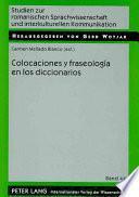 libro Colocaciones Y Fraseología En Los Diccionarios