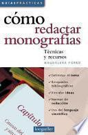 libro Cómo Redactar Monografías
