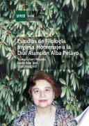 libro Estudios De FilologÍa Inglesa. Homenaje A La Dra. AsunciÓn Alba Pelayo
