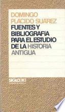 libro Fuentes Y Bibliografía Para El Estudio De La Historia Antigua
