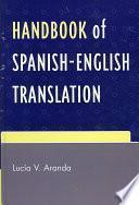libro Handbook Of Spanish English Translation
