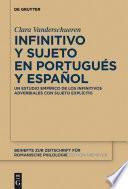 libro Infinitivo Y Sujeto En Portugués Y Español