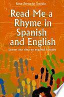 libro Léame Una Rima En Español E Inglés