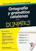 libro Ortografía Y Gramática Catalanas Para Dummies