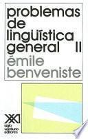 libro Problemas De Lingüística General