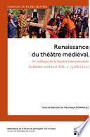 libro Renaissance Du Théâtre Médiéval