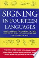 libro Signing In Fourteen Languages
