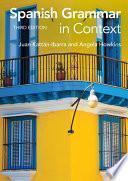 libro Spanish Grammar In Context