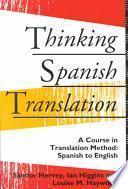 libro Thinking Spanish Translation