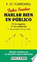 libro Todos Pueden Hablar Bien En Público