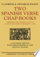 libro Two Spanish Verse Chap Books