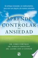 libro Aprende A Controlar Tu Ansiedad