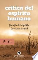 libro Crítica Del Espíritu Humano