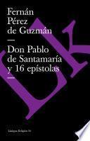 libro Don Pablo De Santamaría Y 16 Epístolas