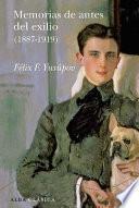 libro Memorias De Antes Del Exilio (1887 1919)