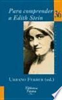 libro Para Comprender A Edith Stein