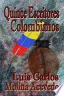 libro Quince Escritores Colombianos