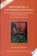 libro Bestiario De La Universidad Española