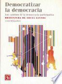 libro Democratizar La Democracia