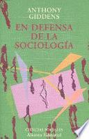 libro En Defensa De La Sociología