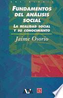 libro Fundamentos Del Análisis Social