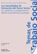 libro Las Necesidades De Formación Del Tercer Sector: Su Medición Y Programación Desde La Perspectiva Europea