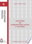 libro Lecciones De Antropología Social Y Cultural