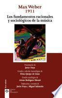 libro Los Fundamentos Racionales Y Sociológicos De La Música