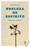 libro Nobleza De Espíritu