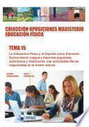 libro Colección Oposiciones Magisterio Educación Física. Tema 15