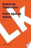 libro Deste Agua No Beberé