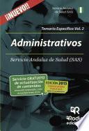 libro Administrativos Del Sas. Temario Específico. Volumen 2