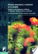 libro Afectos, Emociones Y Relaciones En La Escuela