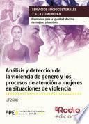 libro Análisis Y Detección De La Violencia De Género Y Los Procesos De Atención A Mujeres En Situaciones De Violencia