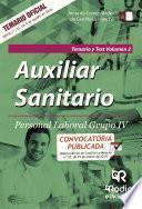 libro Auxiliar Sanitario. Personal Laboral Grupo Iv. Temario Y Test Vol. 2. Junta De Comunidades De Castilla La Mancha