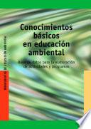 libro Conocimientos Básicos En Educación Ambiental