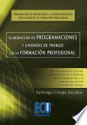 libro Elaboración De Programaciones Y Unidades De Trabajo En La Formación Profesional