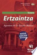 libro Ertzaintza. Agentes De La Escala Básica. Temario