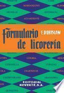 libro Formulario De Licorería