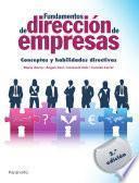 libro Fundamentos De Dirección De Empresas. Conceptos Y Habilidades Directivas
