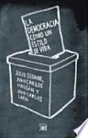 libro La Democracia Como Un Estilo De Vida