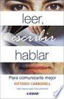 libro Leer, Escribir Hablar