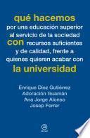 libro Qué Hacemos Con La Universidad