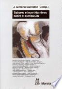 libro Saberes E Incertidumbres Sobre El Currículum