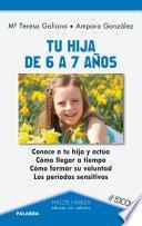 libro Tu Hija De 6 A 7 Años