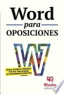 libro Word Para Oposiciones