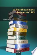 libro La Filosofía Alemana Después De 1945
