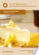 libro Elaboración Y Presentación De Postres De Cocina. Hotr0509