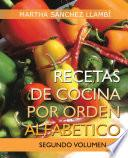 libro Recetas De Cocina Por Orden Alfabetico