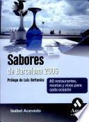 libro Sabores De Barcelona 2006